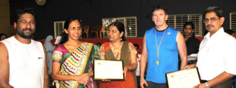 Receiving the Certificate of Appreciation from the Wheelchair Basketball Federation of India (WBFI)