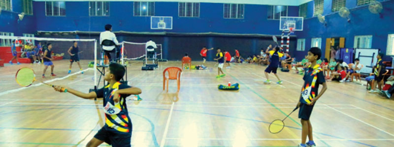 Indoor court for Badminton Volleyball and Basketball